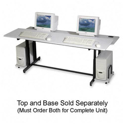 Balt Split Level Computer Training Table, 72 x 36, Top Component, Gray