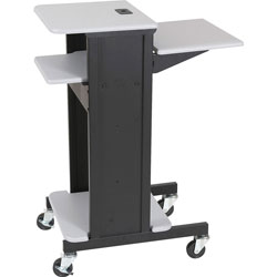 Balt Adjustable Presentation Cart, 18w x 30d x 40.25h, Black Powder Coated Steel