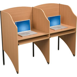 Balt 89869 Add On Privacy Study Carrel, Teak Laminate