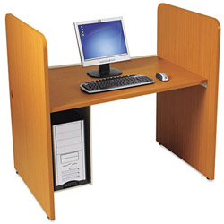Balt Add-On H Carrel, 43 x 27 3/4 x 42, Medium Oak