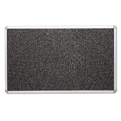 Balt Rubber Tackboard, with Mounting Hardware, 4'x6', Black Gray