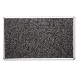 Balt Rubber Tackboard, with Mounting Hardware, 4'x8', Black Gray