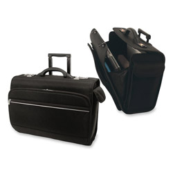 Bond Street 466113BLK Ballistic Computer/Catalog Case on Wheels,19-3/4w x 8-1/2d x 14-1/2h, Black