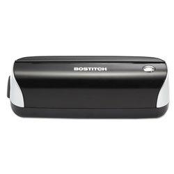 Stanley Bostitch 12-Sheet Capacity Electric Three-Hole Punch, Black