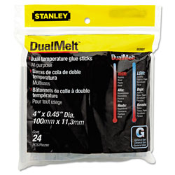 "Stanley Bostitch Dual Temperature Glue Sticks, 4"" Sticks, 24/Pack"