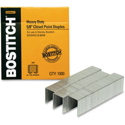 "Stanley Bostitch Heavy Duty Staples, Use In B310HDS, 00540, 1/2""W, 5/8""L"
