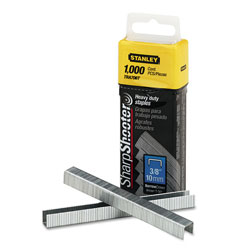 "Stanley Bostitch Staples, 3/8"" Leg Length, 1,000 Staples/Box"