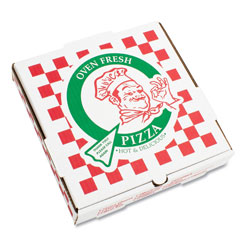 "Pizza Box 10"" E-Flute Pizza Box, White/Kraft"