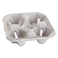 Boardwalk Carryout Cup Trays, 12-20oz, 4-Cup Capacity