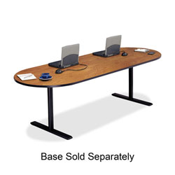 "Bretford Racetrack Conference Table, 42"" x 96"" x 29"", Wild Cherry"