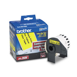 "Brother Labelmaker Continuous Yellow Film Labels, 2 3/7"" x 50 Foot Roll"