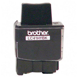 Brother LC41HYBK Black High Yield Ink Cartridge, 900 Pages