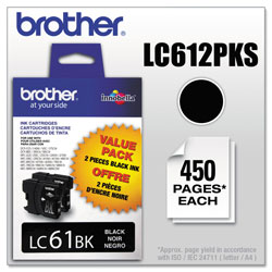 Brother Ink Cartridge, 450 Page Yield, Black