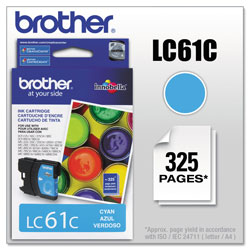Brother LC61 Cyan Ink Cartridge, 500 Pages