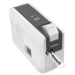 "Brother Label Printer, PC Connectible, 2-1/10"" x 6-1/5"" x 4-2/5"", Beige"