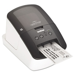 "Brother QL-710W Label Printer, 93 Labels/Minute, 5""wx9-3/8""dx6""h"