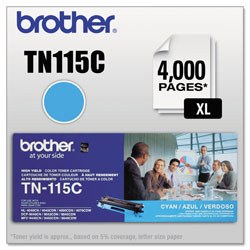 Brother Cyan Toner Cartridge for Hl-4000 Series, High-Yield