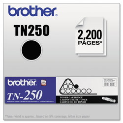 Brother TN250 Black Toner Cartridge for Fax Models DCP 1000