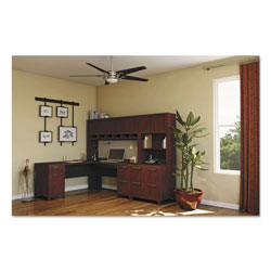 "Bush 72""W x 72""D L-Desk (B/D, F/F) Box 1 of 2 Enterprise: Mocha Cherry"