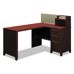 "Bush 60""W x 47""D Corner Desk Solution (Box 1 of 2) Enterprise: Harvest Cherry"