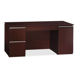 "Bush Milano 50C66CS Credenza, 66"" x 23-3/8"" x 29-5/8"", Harvest Cherry"