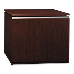 "Bush Storage Cabinet, 35-3/4"" x 23-3/8"" x 29-5/8"", Harvest Cherry"