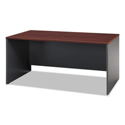 Bush Series C Rectangular Desk, Graphite Gray/Hansen Cherry, 66w x 29 3/8d x 29 7/8h