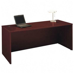 Bush Series C Rectangular Desk, Mahogany, 72w x 29 3/8d x 29 7/8h