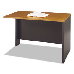Bush Series C Return Bridge f/L Workstation/U Grouping, Graphite Gray/Natural Cherry