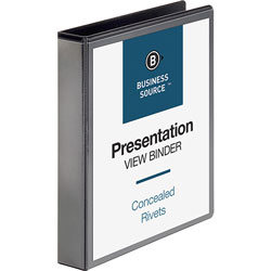 "Business Source Standard 1 1/2"" View Binder, Black"