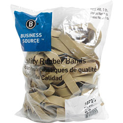Business Source Rubber Bands, Size 105, l lb bag, Natural Crepe
