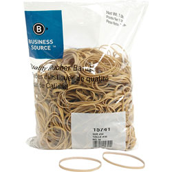 Business Source Rubber Bands, Size 32, 1 lb bag, Natural Crepe