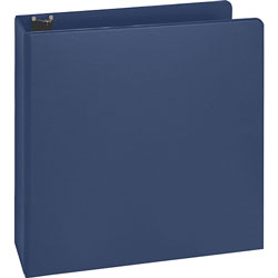 "Business Source 35% Recycled D-Ring Binder, 2"" Capacity, Blue"