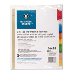 Business Source 8-Tab Index Tabs, White