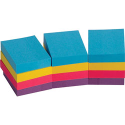 "Business Source Adhesive Notes, Plain, 1-1/2""x2"", 100 Sh/PD, 12PD/PK, Extreme"