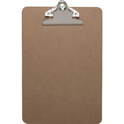 "Business Source Clipboard, w/ Standard Metal Clip, 6"" x 9"", Brown"
