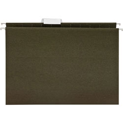 Business Source Hanging Folder, 1/5 Tab Cut, Letter, 25/BX, Standard Green