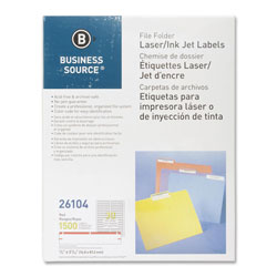 Business Source Label, File Folder, Laser/Inkjet, Red
