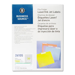 Business Source Label, File Folder, Laser/Inkjet, Green