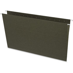 Business Source Hanging Folders, w/o Tabs, Legal, Green