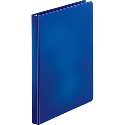 "Business Source 35% Recycled Round Ring Binder, 1/2"" Capacity, Blue"