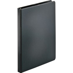 "Business Source 35% Recycled Round Ring Binder, 1/2"" Capacity, Black"