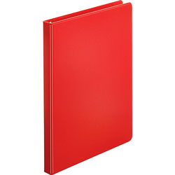 "Business Source 35% Recycled Round Ring Binder, 1/2"" Capacity, Red"