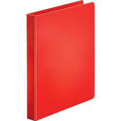 "Business Source 35% Recycled Round Ring Binder, 1"" Capacity, Red"
