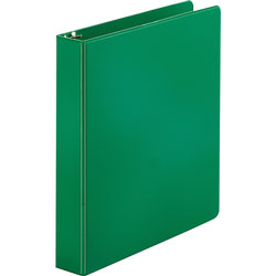 "Business Source 35% Recycled Round Ring Binder, 1 1/2"" Capacity, Green"