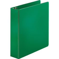 "Business Source 35% Recycled Round Ring Binder, 2"" Capacity, Green"