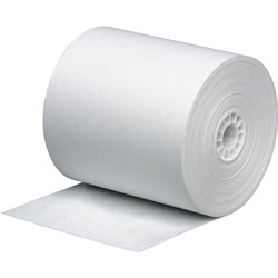 "Business Source Paper Roll, Single Ply, Bond, 3"" x 165', White"