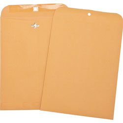 "Business Source Heavy-duty Clasp Envelopes, 8-3/4"" x 11-1/2"", Brown Kraft"