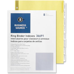 Business Source 8-Tab Indexed Sheet Dividers, Clear