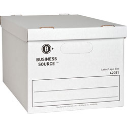 "Business Source Storage File, Letter/Legal, 12""x15""x10"", 12/CT, White"